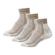 Womens Thorlos Lite Hiking Moderate Padded Ankle 3 Pack Socks - Khaki Heather M
