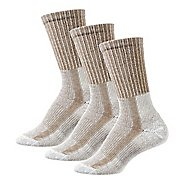 Womens Thorlos Lite Hiking Moderate Padded Crew 3 Pack Socks - Khaki Heather S