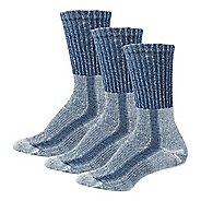 Womens Thorlos Lite Hiking Moderate Padded Crew 3 Pack Socks - Slate Blue M