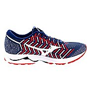 Womens Mizuno Peachtree Waveknit R1 Running Shoe - Red/White/Blue 8.5