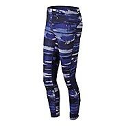 Womens New Balance Impact Tight Printed Tights & Leggings Tights - Blue Iris L