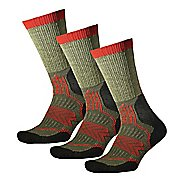 Thorlos Outdoor Fanatic Crew 3 Pack Socks - Olive Branch M