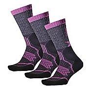 Thorlos Outdoor Fanatic Crew 3 Pack Socks - Purple Mountain S