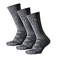 Thorlos Outdoor Traveler Crew 3 Pack Socks - Grey/Black XL