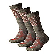 Thorlos Outdoor Traveler Crew 3 Pack Socks - Hazelnut/Fire Red S