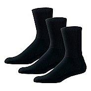 Thorlos Tennis Thick Padded Crew 3 Pack Socks - Black M