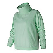 Womens New Balance NB Athletics Anorak Cold Weather Jackets - Sea Foam M