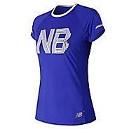 Womens New Balance NB Ice 2.0 Printed Short Sleeve Technical Tops