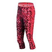 Womens New Balance Printed Accelerate Capris Pants - Vortex S