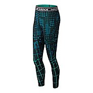 Womens New Balance Printed Accelerate Tights & Leggings Tights - Lake Blue S