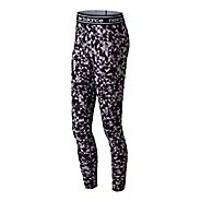 Womens New Balance Printed Accelerate Tights & Leggings Tights - Elderberry M