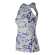 Womens New Balance Printed Evolve Open Sleeveless & Tank Technical Tops - White Multi L