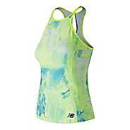 Womens New Balance Printed Rally Court Sleeveless & Tank Technical Tops - Solar Yellow M