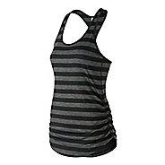 Womens New Balance Printed Transform Sleeveless & Tank Technical Tops - Black Multi S