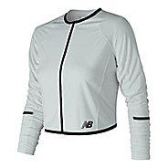 Womens New Balance Q Speed Crop Running Jackets - White M