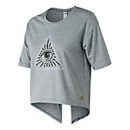 Womens New Balance Release Layer Tee Short Sleeve Technical Tops - Athletic Grey L