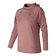 Womens New Balance Seasonless Half-Zips & Hoodies Technical Tops - Dusted Peach L