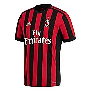 Mens adidas AC Milan Home Replica Jersey Short Sleeve Technical Tops - Victory Red/Black S