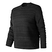 Womens New Balance Sheer Studio Sweater Long Sleeve Technical Tops - Black L
