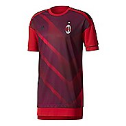 Mens adidas AC Milan Home Replica Pre-Game Jersey Short Sleeve Technical Tops - Victory Red/Black S