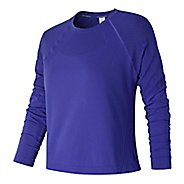 Womens New Balance Stretch Layer Long Sleeve Technical Tops - Blue Iris L