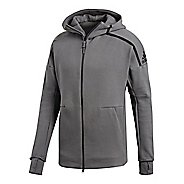 Mens adidas Z.N.E. Hoodie 2.0 Half-Zips & Hoodies Technical Tops - Grey XXL