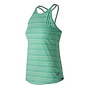Womens New Balance Transform Luxe Sleeveless & Tank Technical Tops - Sea Foam M