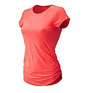 Womens New Balance Transform Tee Short Sleeve Technical Tops - Vivid Coral S