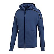 Mens adidas Z.N.E. Hoodie 2.0 Half-Zips & Hoodies Technical Tops - Noble Indigo L