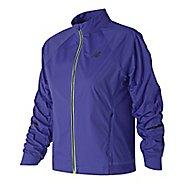 Womens New Balance Vented Precision Running Jackets - Blue Iris M