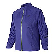 Womens New Balance Vented Precision Running Jackets - Blue Iris S