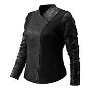 Womens New Balance Studio Bomber Casual Jackets - Black XS