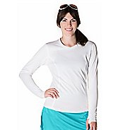 Womens Skirt Sports Cool It Long Sleeve Technical Tops - White XS