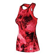 Womens New Balance Printed Anticipate Sleeveless & Tank Technical Tops