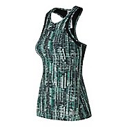 Womens New Balance Printed Anticipate Sleeveless & Tank Technical Tops - Tidepool S