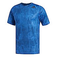 Mens adidas Alphaskin Sport Supreme Speed-Print T-Shirt Short Sleeve Technical Tops - Blue S