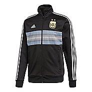 Mens adidas Argentina 3-Stripes Track Running Jackets - Black/White S