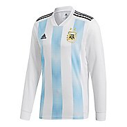 Mens adidas Argentina Home Replica Jersey Long Sleeve Long Sleeve Technical Tops - ...