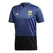 Mens adidas Argentina Training Jersey Short Sleeve Technical Tops - Blue/White/Black M