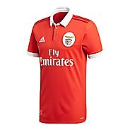 Mens adidas Benfica Home Replica Jersey Short Sleeve Technical Tops - Red/White XXL