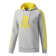 Mens adidas Boston Marathon Qualifier Half-Zips & Hoodies Technical Tops - Grey Heather/Sun M