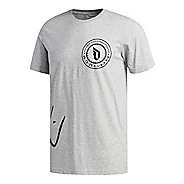Mens adidas Dame Logo T-Shirt Short Sleeve Technical Tops