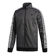 Mens adidas Essentials 3-Stripes Tricot Casual Jackets - Black/White L