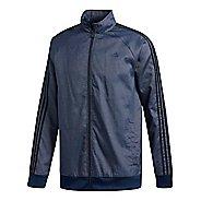 Mens adidas Essentials 3-Stripes Tricot Casual Jackets - Navy/Black M