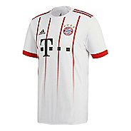 Mens adidas FC Bayern Munich UCL Replica Jersey Short Sleeve Technical Tops - White/True Red XL