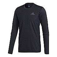 Mens adidas FreeLift Elite T-Shirt Long Sleeve Technical Tops - Black S