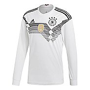 Mens adidas Germany Home Replica Jersey Long Sleeve Technical Tops - White/Black M