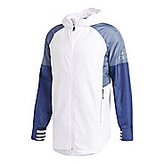 Mens adidas ID Running Jackets - White XL