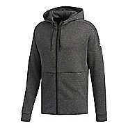 Mens adidas ID Stadium Half-Zips & Hoodies Technical Tops - Stadium Heather/Black S