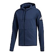 Mens adidas ID Stadium Half-Zips & Hoodies Technical Tops - Heather/Noble Indigo L